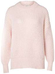 Selected Femme Hema Chunky Knit Jumper Heavenly Pink