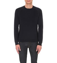 Sandro Futura Wool Jumper Blue Green