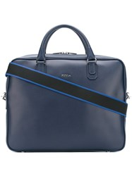 Furla Removable Strap Briefcase Blue