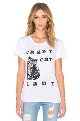 Local Celebrity Crazy Cat Lady Schiffer Tee White