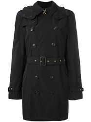 Burberry Hooded Trench Coat Black