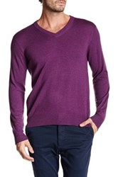 Qi V Neck Pullover Purple