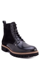 Zanzara Millet Water Resistant Lugged Boot Black Leather
