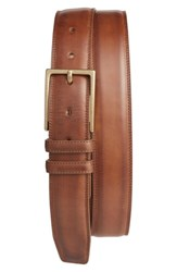 Mezlan Men's Nobuk Leather Belt Taupe