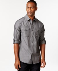 Sean John Striped Button Front Shirt Castle Rock