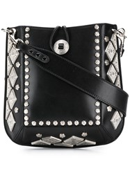 Isabel Marant Floral Studded Satchel Bag Black