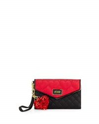 Betsey Johnson Be Mine Quilted Flap Wallet Red