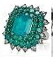 Nam Cho Colombian Emerald Ring Green