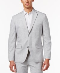Inc International Concepts Men's Oliver Slim Fit Chambray Blazer Only At Macy's Light Grey