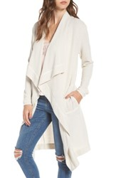 4Si3nna Women's Open Front Cardigan Light Grey