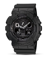 G Shock G Shock Oversized Analog Digital Combo Watch 55 X 51 Mm Black