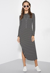 Forever 21 The Fifth Label Standard Stripe Dress Black White