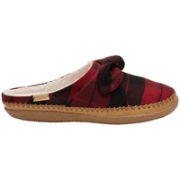 Toms Ivy Plaid Bow Slippers Red Plaid