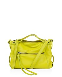 Kooba Blanche Leather Crossbody Citron Silver