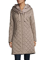 T Tahari Diamond Quilted Coat Black