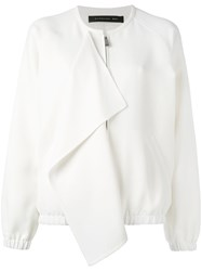 Barbara Bui Front Flap Bomber Jacket White