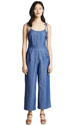 Evidnt Tie Shoulder Jumpsuit Chambray