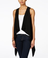 Bar Iii Asymmetrical Vest Only At Macy's Deep Black