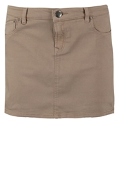 Edc By Esprit Denim Skirt Muddy Brown