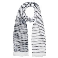 French Connection Dallas Stabstitch Scarf White Utility Blue
