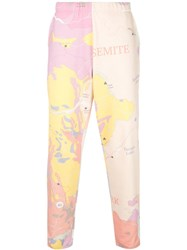 The Elder Statesman Printed Track Trousers Pink