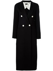 Joseph Buttoned Long Coat Black
