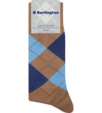 Burlington Manchester Mercerised Cotton Socks Rosewood