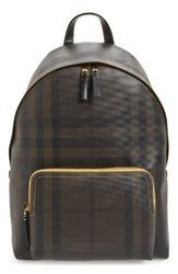 Burberry Men's Abbeydale Faux Leather Backpack Yellow Larch Yellow