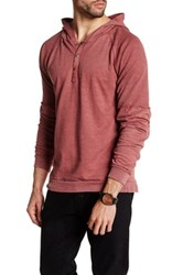 Burnside Hooded Shirt Red