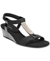Alfani Women's Vacay Wedge Sandals Women's Shoes Black