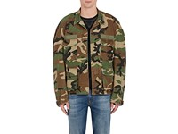 R 13 R13 Men's Misfits Camouflage Cotton Twill Field Jacket Green