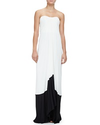 Monique Lhuillier Strapless Accordion Pleated Gown