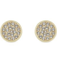 Kate Spade Dainty Sparklers Pave Disc Earrings Clear