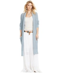 Denim And Supply Ralph Lauren Crochet Inset Tiered Maxiskirt White