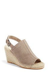 Caslonr Women's Caslon 'Sutton' Slingback Mule Stone Perferated Kidsuede