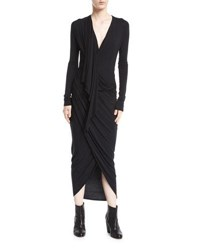 Urban Zen Convertible Jersey Wrap Dress Black