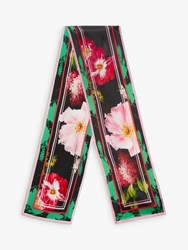Ted Baker Bettiie Floral Silk Skinny Scarf Black Multi