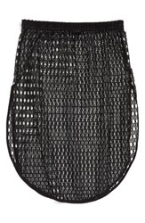 Topshop Women's Lace Cover Up Skirt Black