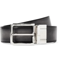 Berluti 3.5Cm Scritto Reversible Leather Belt Dark Brown