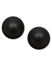 Macy's 14K Gold Earrings Onyx Ball Stud Earrings 8Mm
