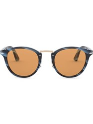 Persol Marbled Frame Sunglasses Blue