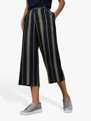 Ted Baker Basila Striped Cotton Culottes Blue Navy