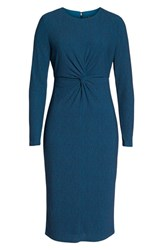 Maggy London Knot Front Midi Dress Turquoise