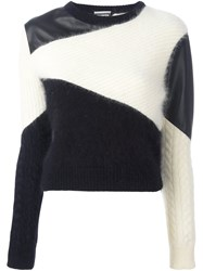 Fausto Puglisi Colour Block Jumper White