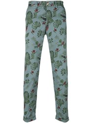 Jeckerson Print Fitted Trousers Grey