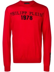 Philipp Plein Logo Jumper Red