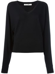 Rag And Bone V Neck Sweatshirt Black