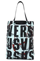 Versus By Versace Printed Shell Tote Mint