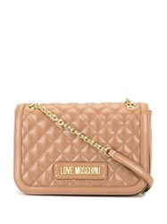 Love Moschino Quilted Shoulder Bag Neutrals
