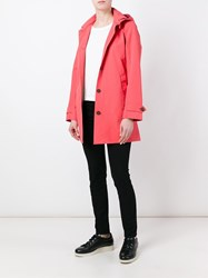 Save The Duck Hooded Coat Pink And Purple